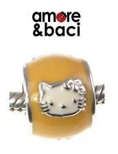 VGC genuine AMORE BACI sterling silver SUNSHINE YELLOW HELLO KITTY charm bead