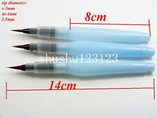 3pcs Refiillable Water Brush Ink Pen for Water Color Drawing Painting  Art Brush