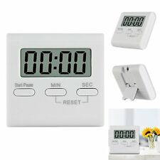 LCD Digital Kitchen Cooking Timer Count Down Up Alarm Clock Loud Magnetic White