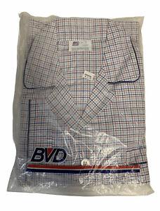 Vintage NOS Mens 2 Piece Pajama Set BVD Size D Tall Man Free US Shipping