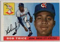 1955 Topps #132 Bob Trice EX-EXMINT Kansas City Athletics FREE SHIPPING
