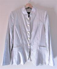 Giorgio Armani Black Label Sz 42/S Grey Pinstripe Sequin Moonstone Blazer Jacket