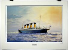 RMS TITANIC Lithograph Poster by James A. Flood 1994 21 x 28.5 Beautiful Color