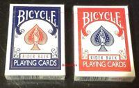 Bicycle Rider Back US Playing Cards Poker 2 Decks 1 X BLUE +1 X RED Poker Magic
