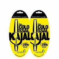 Maybelline New York Colossal Kajal, Black, 0.35 gm each  (Pack of 2 at 30% off)