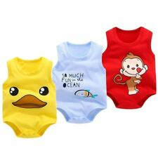 Newborn Baby Cotton Girl Boy Soft Bodysuit Romper Jumpsuit Outfits Clothes Hot