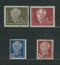German Democratic Republic:  set 54 to 57 Mint-hinged, XF condition GE198-1