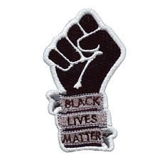 Black Lives Matter Movement Fist Embroidered Iron On Patch