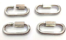 4pcs 8mm Quick Link Snap Spring Hook, D Shackle, Buckle Carabiner Fasteners