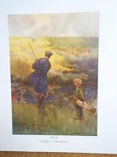 DEAL Golf Course Art Print Facsimile Print Of Original 1910 Harry Rountree