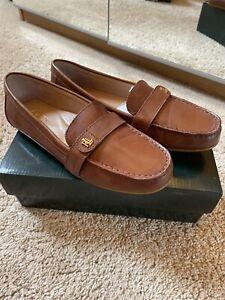 Ralph Lauren Tan Ladies Loafer Shoes (6)