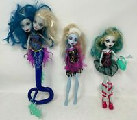 Monster High 3 Doll Lot: Peri & Pearl Serpentine, Abbey Bominable, Lagoona Blue