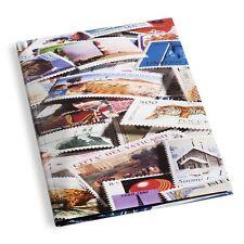 Leuchtturm Einsteckbuch DIN A4 mit Briefmarken-Motiv STAMPS , 16 schwarze Seiten