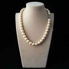 AAA+ 10mm Champagne White South Sea Shell Pearl 18'' AAA++
