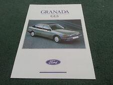 February 1989 FORD GRANADA GLS 2.9 EFi Special Edition UK FOLDER BROCHURE FA917