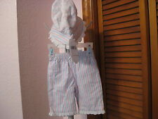 Lullaby Club 2 Piece Pants and Bonnet Set Size Newborn or Reborn Baby NWT