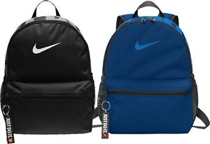 Nike Junior Mini Backpack Rucksack School Travel Blue Black Girls Boys Kids Zip