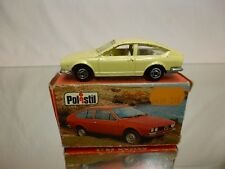 POLISTIL ART RJ48  ALFA ROMEO ALFETTA GT - CREAM 1:60? - GOOD CONDITION IN BOX