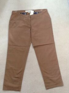 NEXT Ladies Mid Brown Maternity Chino Trousers - Size 18 Reg - New with Defect