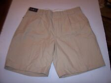 New Polo Ralph Lauren linen silk cotton blend dress shorts pleat beige 36 or 40