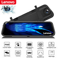 "Lenovo Full Screen 10"" 1080P Car Rear View Mirror DVR Camera Dash Cam Security"