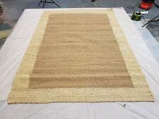 Handmade Natural Jute Bordered Rug Rope 240/170cm 6x4f Flatweave Garden Door Mat