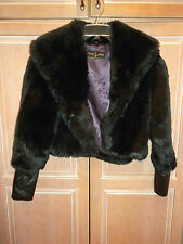 BABY PHAT BRAND BLACK FAUX FUR JACKET   LADIES SIZE SMALL