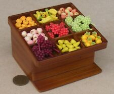 1:12 Scale Wooden Counter With 70 Loose Fruit Tumdee Dolls House Miniature D