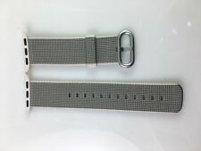 Original Genuine Apple Watch Woven NYLON Band Silver buckle 38MM 40MM Pearl OEM