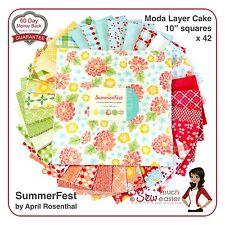 Summerfest Moda Layer Cake Modern Fabric Summer-fest Vintage Retro Floral Bright