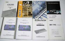 Bedienungsanleitung E-MU XL7 MP7 Roland G70 Boss DR770 Korg Triton M3 OB12