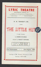 The Little Hut Program Lyric Theatre August 23 1950 Joan Tetzel Robert Morley