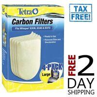 Tetra Whisper EX Carbon Filter Cartridge Large 4pk. FIts EX30, EX45 & EX70