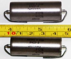 K40Y-9 Paper in oil capacitors. 0.1uf 1000V. NOS.Audio Grade. For Leak ,Quad ETC
