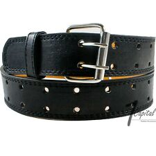 Unisex Faux Leather Three-Hole Belt Up to 4XL Available