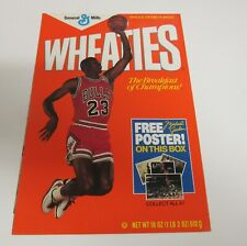 1989 Wheaties Cereal Michael Jordan Poster 16 x 23