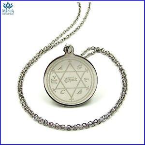 Amuleto talismano di Salomone portafortuna in acciaio collana uomo donna da con