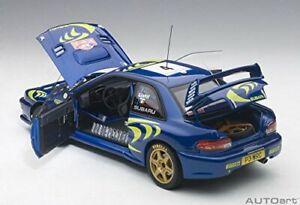 AUTOart 1/18 Subaru Impreza WRC 1997 # 4 Monte Carlo Rally Winner With tracking