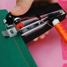 Mini Portable Needlework Cordless Hand-Held Clothes Fabrics Sewing Machine UK