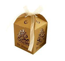Openwork Paper Eid Muslim Box for Ramadan, Eid, and Wedding, Baby Shower Parties