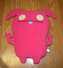 """Uglydoll Uppy Pretty Ugly Pink Red Plush Doll 14"""""""