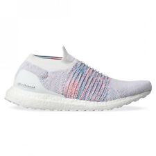 New adidas UltraBOOST Laceless B37686 White Multi-Color Rainbow  Running Shoes