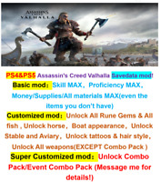 Assassin's Creed Valhalla Mod service,PS4 & PS5