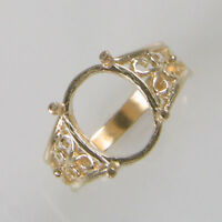 PRENOTCHED 12X10MM OVAL SOLITAIRE RING IN YELLOW GOLD SIZES 5-9 CR2285-10KY
