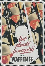 Artist Stamp Replica Poster Label Netherlands 07 WWII Holland Soldiers MNH