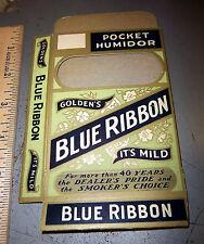 Blue Ribbon Golden's Cigar, pocket humidor box, new and unused, unique
