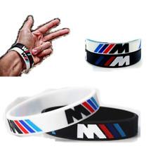 2 Pcs. BMW Sport M Power Silicone Logo Engrave Hologram Bracelets Wristband New