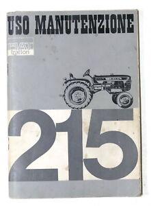 Libretto uso manutenzione Fiat Trattori 215 - 1^ ed. 1965