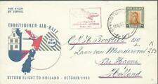 NEW ZEALAND - 1953 'CHRISTCHURCH AIR-RACE' Return flight to Holland FDC [A1601]