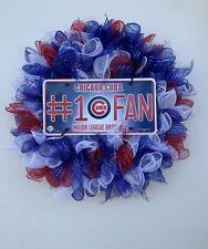 Chicago Cubs Deco Mesh Wreath